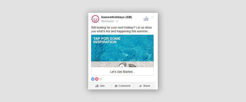 low cost holidays on facebook