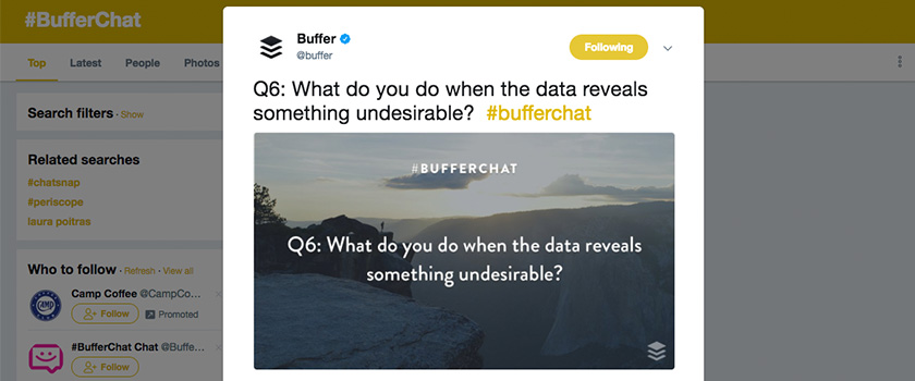 Buffer Chat on Twitter