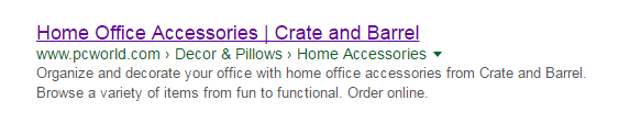 pc world search result