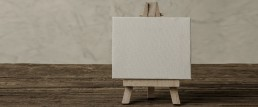 canvas rustic wood stand