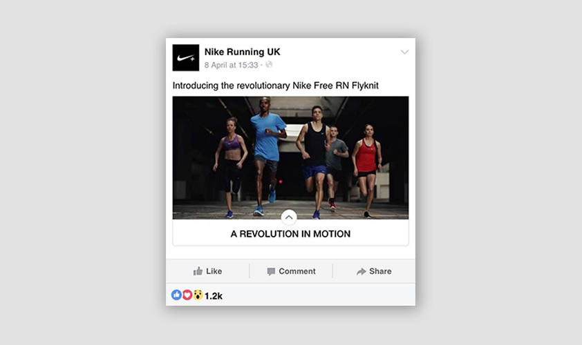 facebook ad on sports