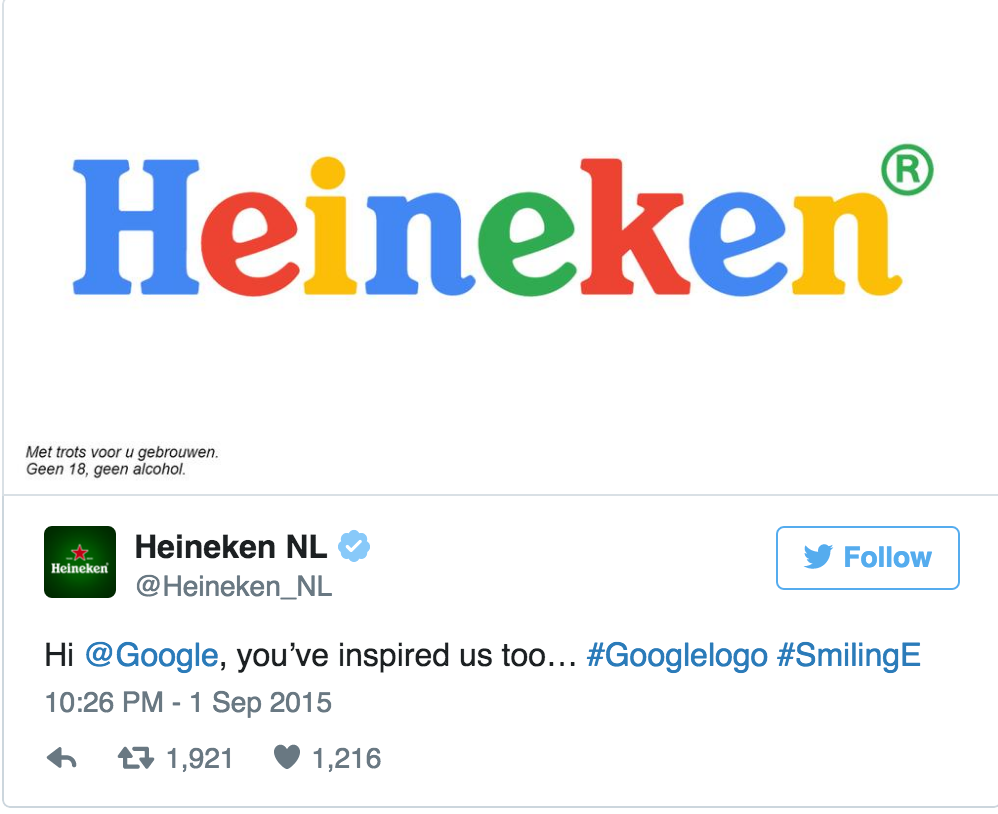 heineken reaction to google