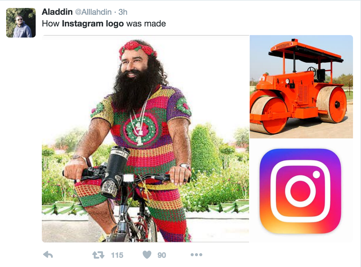 instagram logo twitter reaction