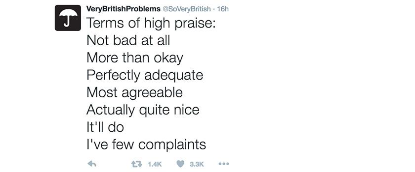 Very British Problems tweet