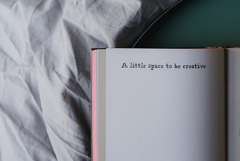 Creative message in a book